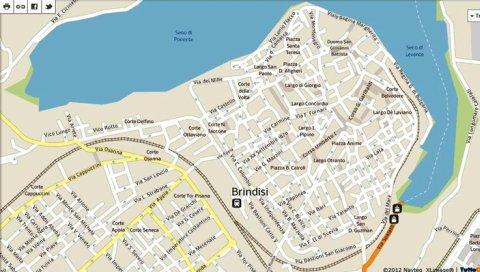 Brindisi Cartina Geografica.Le Mappe Di Brindisi Rassegna Storica E Curiosita